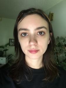 long brown hair before