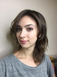 long ish brown hair